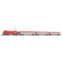 H0 startovací set s elektrickou lokomotivou Taurus a osobními vozy ÖBB ep.V
