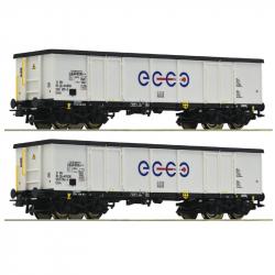 H0 set dvou otevřených vozů Eaos -Ecco Rail- ep.VI