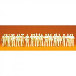 H0 v letních uniformách 24 figurek -nebarvené-