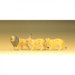 H0 lev a lvice 3 figurky