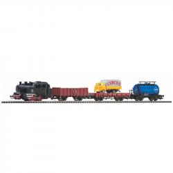 H0 startovací set s parní lokomotivou a nákladními vozy DB