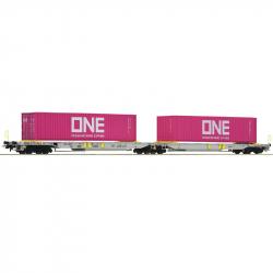 H0 dvojitý kontejnerový vůz Sdggmrs/T2000 AAE ep.VI