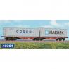H0 dvojitý kontejnerový vůz  typ Sggrss 80 -ČD Cargo- ep.V - VI