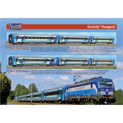 H0 - set tří osobních vozů EuroCity-Set -Hungaria- MAV ep.VI