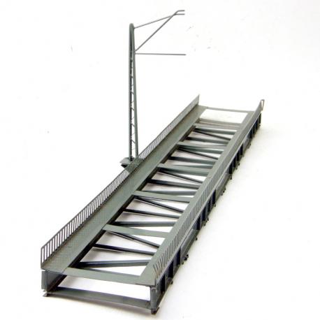 H0 - most s horní mostovkou dlouhý 36cm