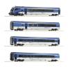 H0 - čtyřdílný set vozů -Railjet- s řídícím vozem ČD ep.VI
