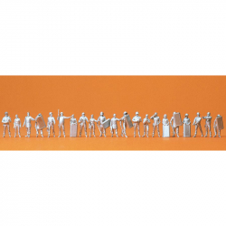 H0 - nebarvené figurky - policie ve službě s příslušenstvím 21 figurek
