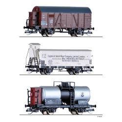 TT - set tří nákladních vozů BDZ, DRG, ČSD ep.II