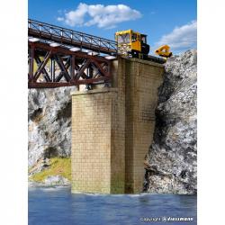 H0 - zděné univerzální mostní pilíře