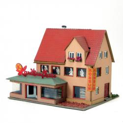 H0 - venkovský obchodní dům - Konzum 15x13cm