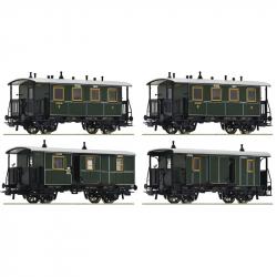 H0 - set čtyř osobních vozů  K.Bay.Sts.B 3.tř. ep.I