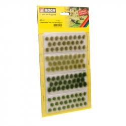 Travní trsy -světle a tmavě zelený-