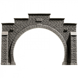 H0 - tunelový portál -dvoukolejný-
