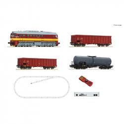 H0 - digitální start set -nákladního vlaku s motorovou lokomotivou Rh T679.1