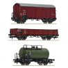 H0 - set tří nákladních vozů  ČSD ep.III